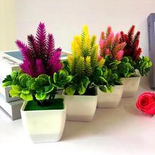 1 шт. искусственный цветок трава в горшках пластиковые искусственные растения цветы бытовые Свадебные весна лето Декор для гостиной