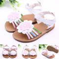 2016 Summer Infant Shoes Baby Sun Flowers Girl Sandals Hard Sole Babies Fist Walker PU Leather 0-1years