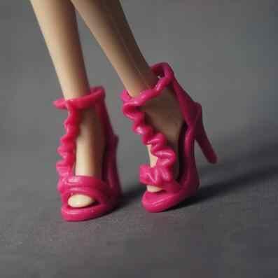 1 par/2 uds. De excelente calidad para zapatos de Barbie Origina sandalias coloridas de tacón alto para ropa de muñeca Barbie accesorios de bricolaje