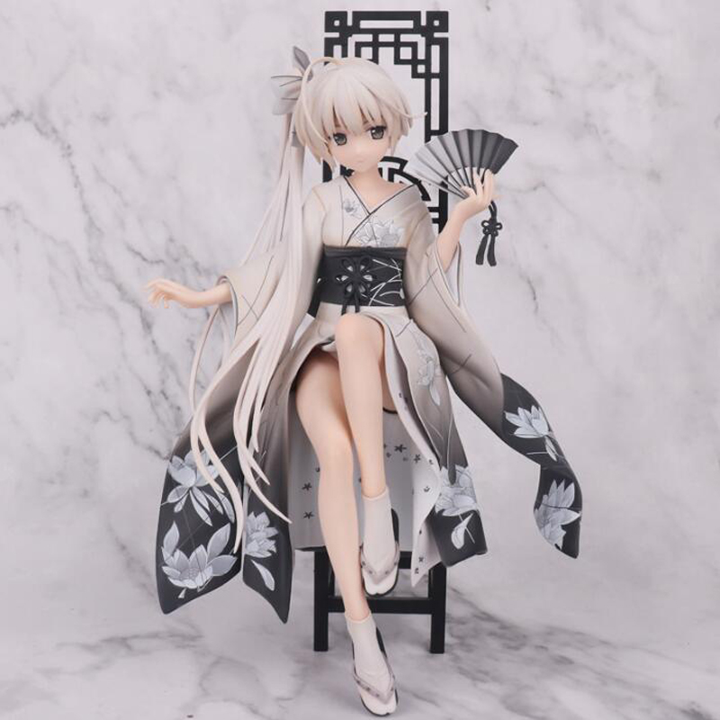 Yosuga no Sora Anime action figure Kasugano Sora sexy cheongsam Ver. model doll toys gift with box Christmas F7275 anime sexy figure yosuga no sora kasugano sora sexy china dress ver pvc action figures collectible model toys doll 22cm acaf061