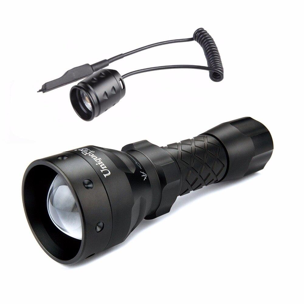 ᗚLinterna portable uniquefire 1407 940 ir LED linterna 3 modos 30mm ...