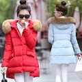 The new cotton manufacturers selling long cloak coat girls  female  eider down Autumn and Winter Maternity Pregnant Women