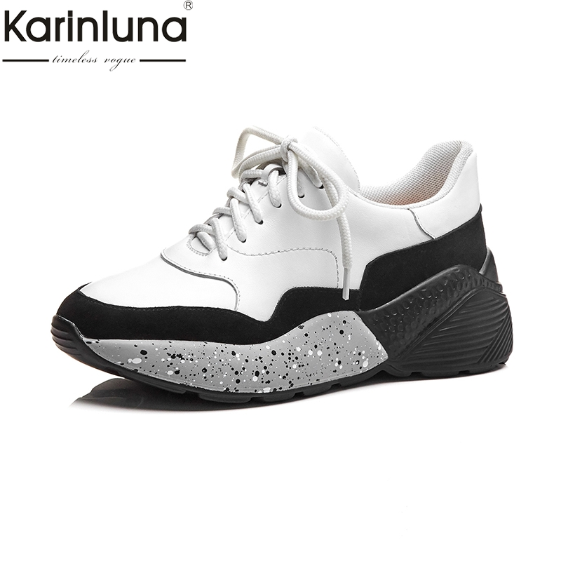 KarinLuna Chic Style Classics Fashion Attractive women s Shoes Brand Genuine Leather Platform lace up Comfortable