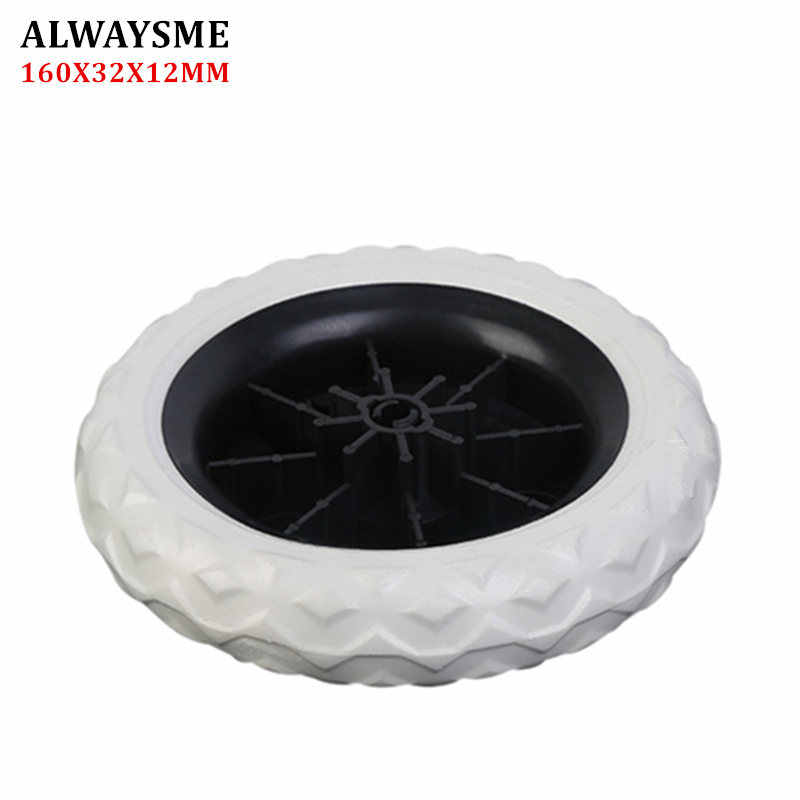 ALWAYSME 1PCS Baby Kids Stroller Replacement Parts Stroller Wheels  Shopping Cart Wheels Diameter 160mm Width 32mm Hole 12mm