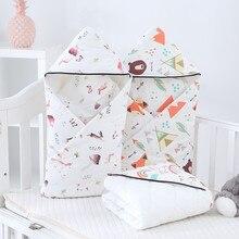 Зимнее детское Пеленальное Одеяло 85x85 см, плотное теплое хлопковое полиэфирное одеяло, конверты для новорожденных, детское постельное белье, спальный мешок