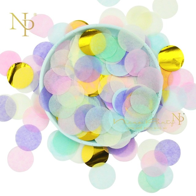 Nicro 2.5CM 10g/bag  Paper Confetti Sprinkles 12 Colors Round Balloon Confeti Wedding Birthday Party Table Decorations #Con08