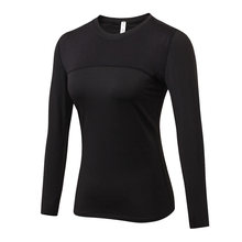 Women Quick Dry Compression Running Tops Long Sleeve T-shirts Body Shaper