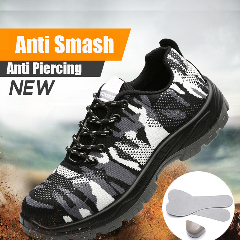 Men Safety Shoes Breathable Work Boots Outdoor Steel Toe Cap Shoes Anti-Smash Construction Safety Sneakers Men Work ShoesMen Safety Shoes Breathable Work Boots Outdoor Steel Toe Cap Shoes Anti-Smash Construction Safety Sneakers Men Work Shoes