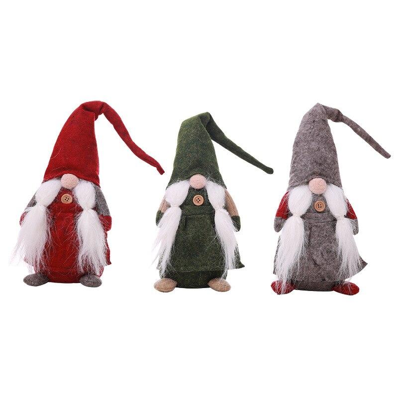 1 unid anónimo Navidad muñecas DIY adornos de Navidad decoraciones para el hogar Navidad para niños juguetes Navidad 2018