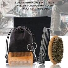 4 Pcs Styling Tools Comb Beard Shaping Tool Template Beard Comb Men Shaving Tools Gentleman Beard Razor Trim Template Tool