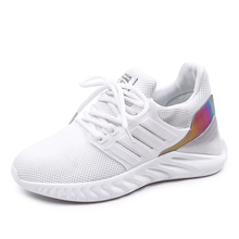 ALDOMOUR Women Sneakers Running Shoes Flying Net Surface Mesh Outdoor Sports Breathable Platform Comfortable Casual Shoe C