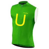 Men's Cycling Sleeveless vest 3 Color U shape Summer Breathable Cyclisme Jersey ropa ciclismo