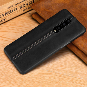 Image 4 - For OnePlus 7/ Pro Case Genuine Leather Case For OnePlus 6 6T Case Cover Luxury Stitching Leather Back Case For OnePlus 7 Pro 6T
