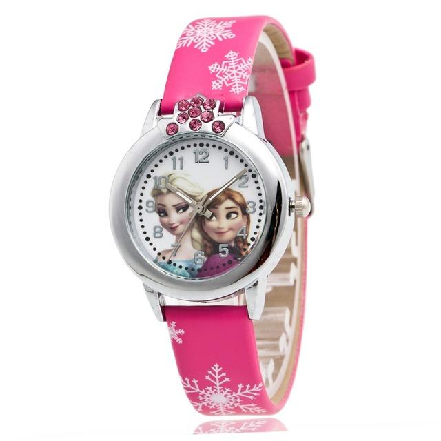 Reloj Frozen con las princesas Elsa y Anna