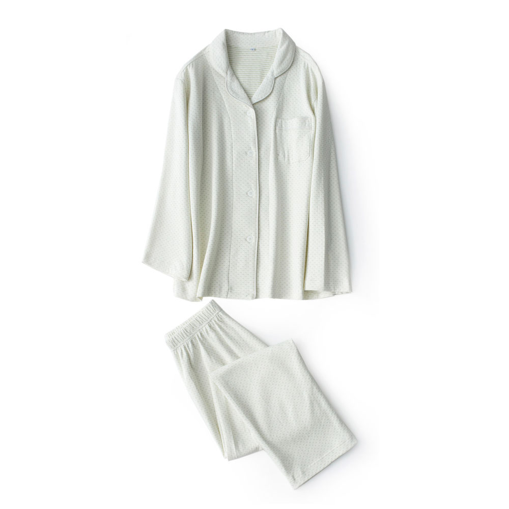 Cute Double-knit Natural Cotton Women   Pajama     Sets   Autumn Long Sleeve Couple Pyjama Suit Femme Sleepwear Men Pijama Mujer