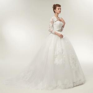 Image 3 - Женское платье с длинным рукавом Fansmile, свадебное платье из двух предметов, модель 2020