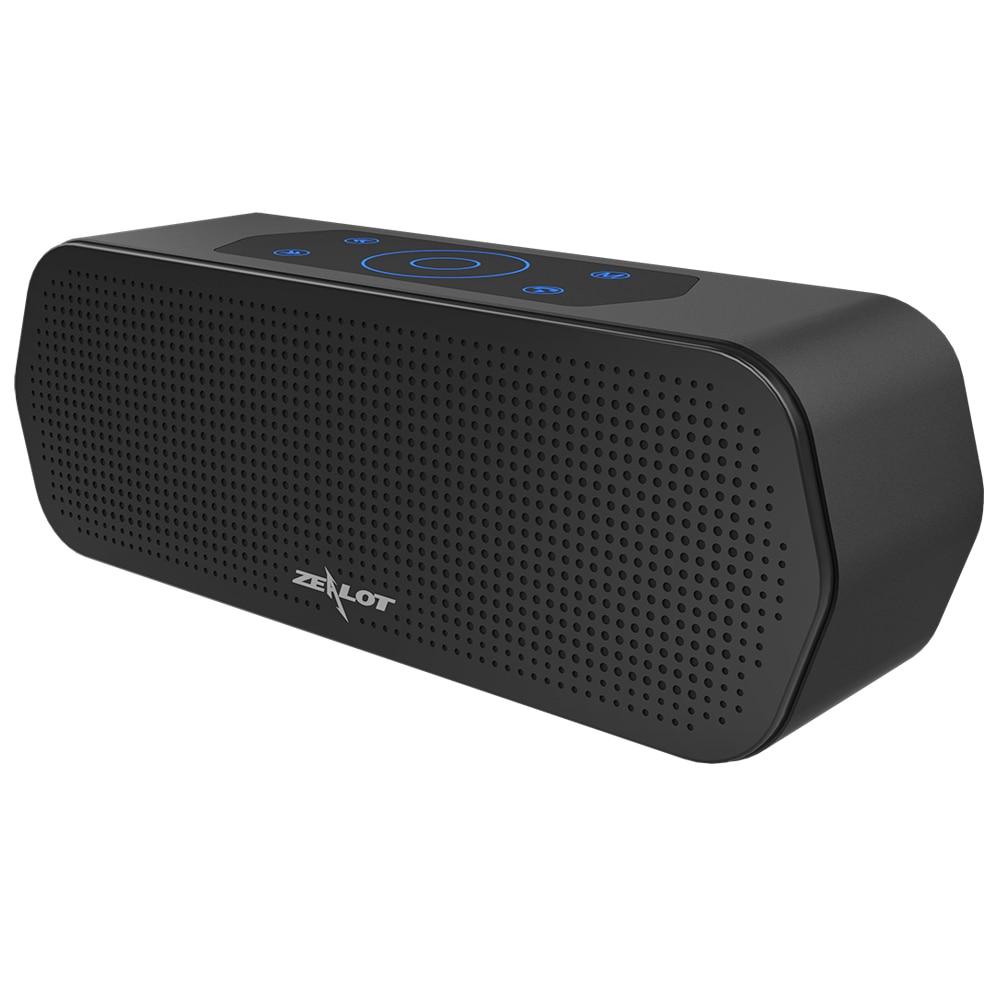 Zélot S20 Bluetooth haut-parleur sans fil contrôle tactile Portable Subwoofer 3D stéréo système de son TF carte MP3 jouer avec Microphone