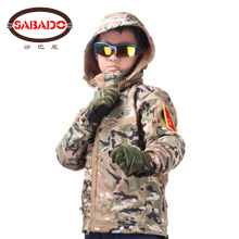 Outdoor camouflage Waterproof children TAD Tactical Shark Skin Softshell hunting jacket kids Army Clothes outdoor sports tad shark skin soft shell camo jacket or pants men hiking hunting clothes camouflage tactical military clothing