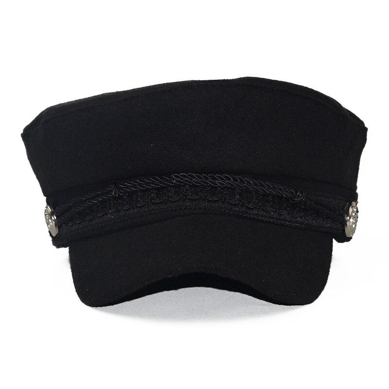 Yeni Sonbahar Sekizgen şapka Kadın Düz Askeri Beyzbol şapkası