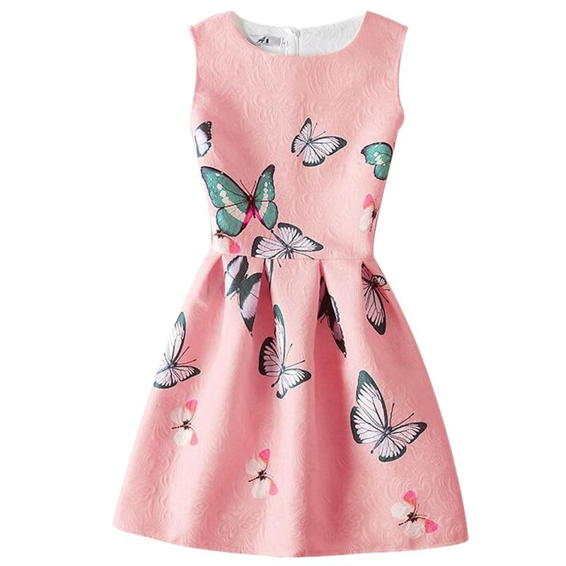 Summer Dress 2017 Dresses For Girls Of 5 20 Years Sleeveless Printed Big Size Princess Dress -6169
