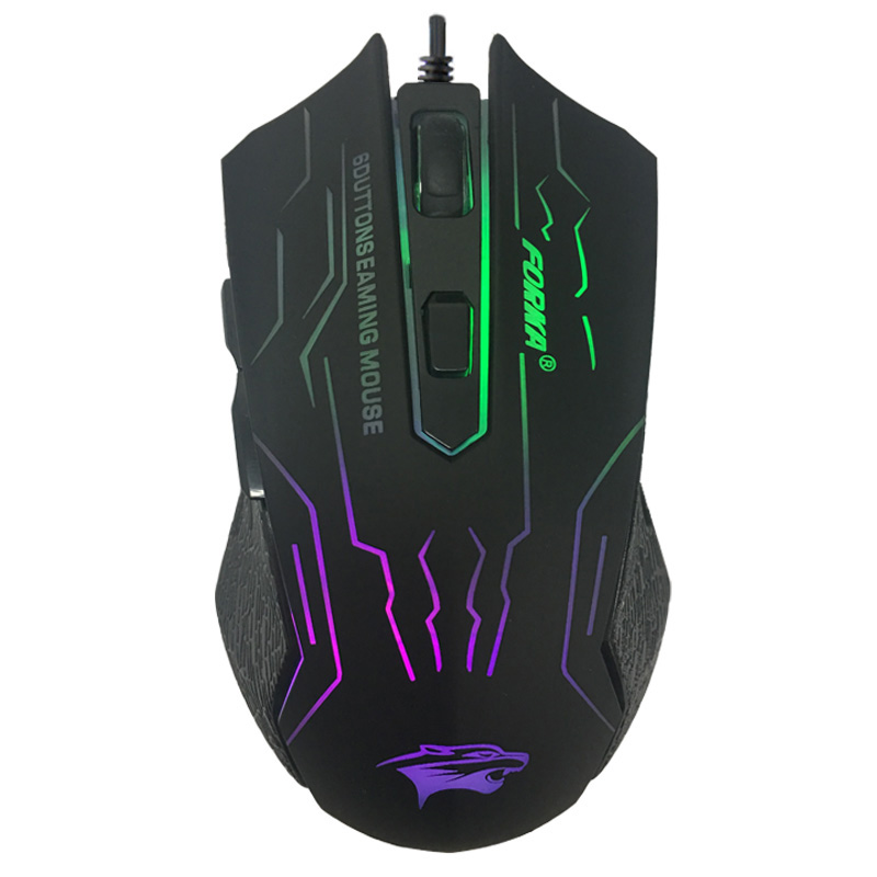 Pro Gaming Mouse Ajustable 3200 DPI 6 Buttons Optical High-grade USB Wired Game Mouse Gamer 4 Color Breathing Light Mice