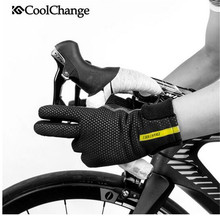 CoolChange Sport Bicycle Gloves Winter Thermal Windproof MTB Full Finger Anti-Slip Touch Screen Cycling Gloves Men Women coolchange cycling gloves winter thermal waterproof bicycle gloves full finger anti slip touch screen sport mtb road bike gloves