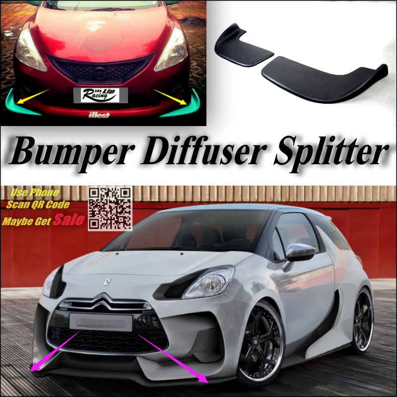 buy car splitter diffuser bumper canard. Black Bedroom Furniture Sets. Home Design Ideas