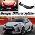 Car Splitter Diffuser Bumper Canard Lip For Citroen DS3 2009~2016 Tuning Body Kit / Deflector Car Refit Fin Flap Chin Reduce