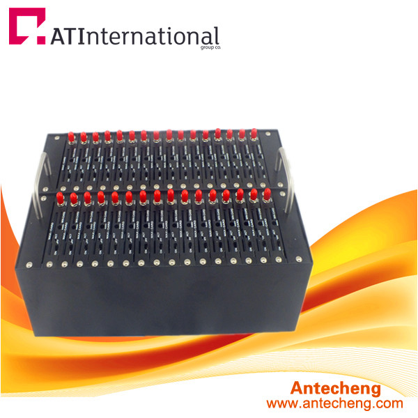 Cheap price 32 port modem pool, quad band 32 port modem pool for sms sending and receiving, lowest price 32 port sms modem pool