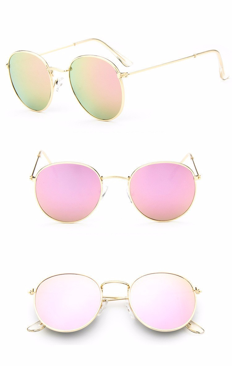 Luxury Brand Design Round Aviator Sunglasses Women Retro Brand Sun Glasses For Women Female Lady Sunglass Driving Mirror Glasses (10)