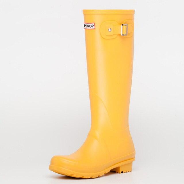 NEW Hot Phụ Nữ Không Thấm Nước Mưa Khởi Động Nữ cao Đến Đầu Gối Thời Trang Phụ Nữ Cao Su Mưa Khởi Động Cô Gái Giày Rainboots PVC Mưa giày