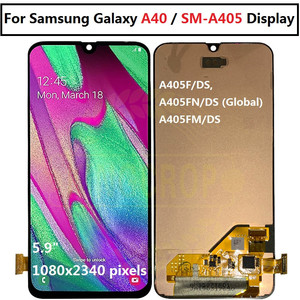 """Image 5 - 5.9 """"Samsung Galaxy A40 LCD A405 A405F A405FN/D A405DS ekran dokunmatik ekran ile çerçeve Samsung için dijitalleştirici montajı A40 LCD"""