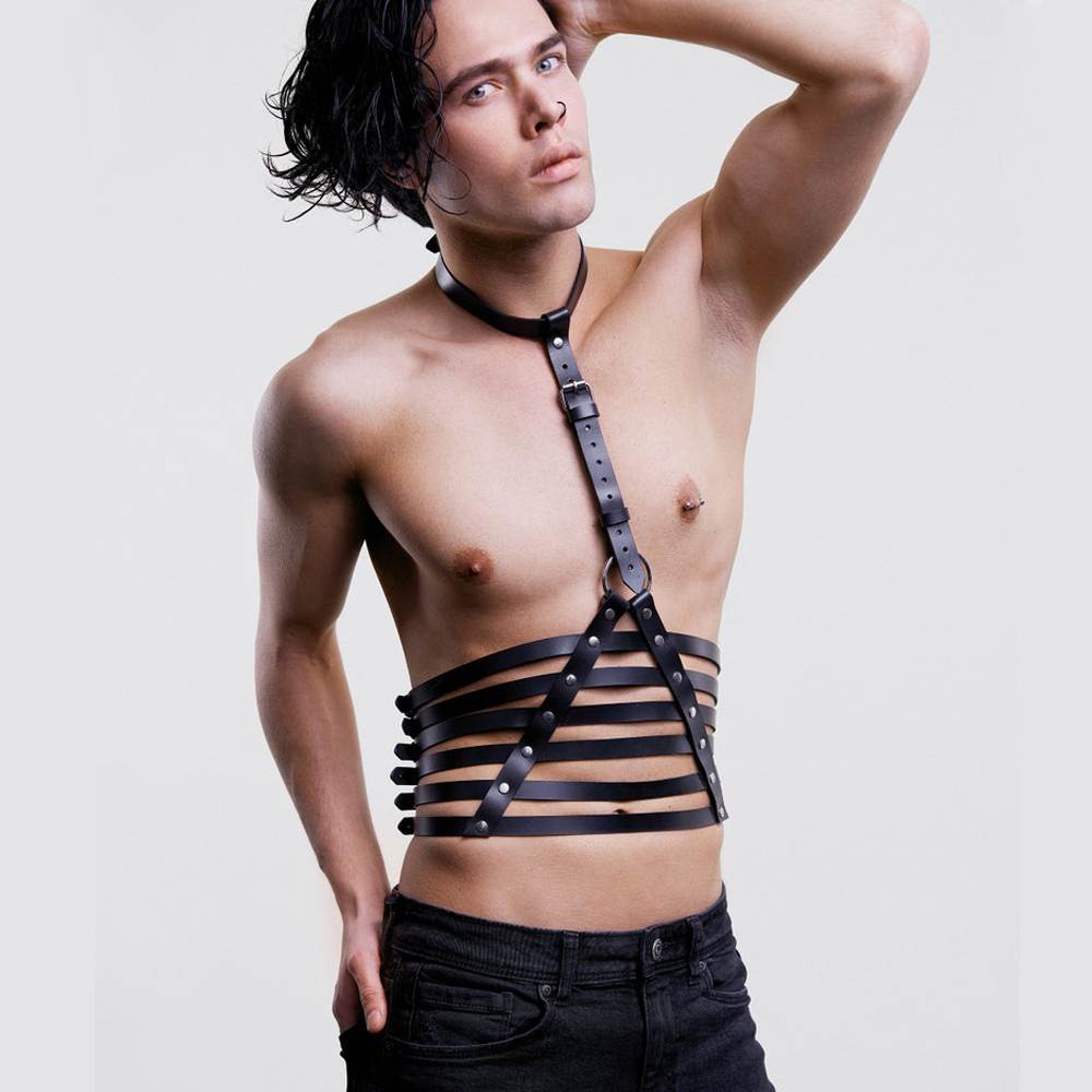 Sexy Men Strap Belt Choker Waist Suspender Adjustable Chest Crop Top Adult Gay Male Costumes Bdsm Bondage Sculpting Exotic Tanks