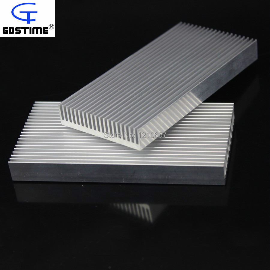 50PCS lot Gdstime 100x48x11mm Aluminum Heatsink Cooling for LED Power Memory Chip IC Transistor