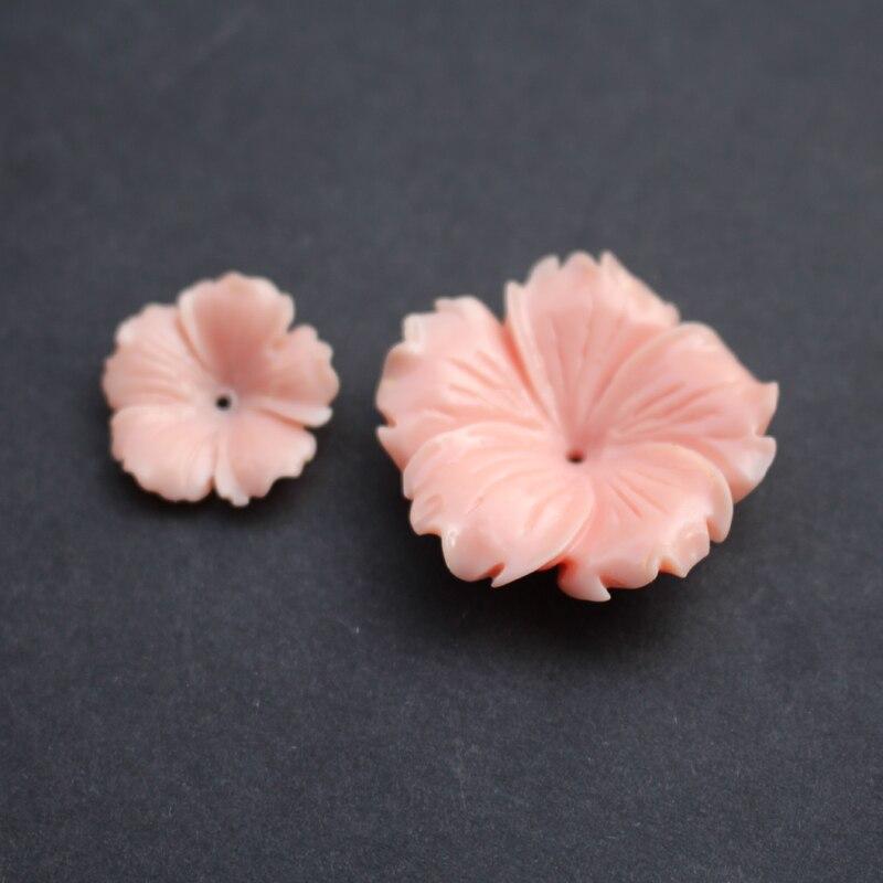 (10 шт./лот) резные цветы, 20 мм 30 мм, розовый цвет, искусственный Коралл, для изготовления ювелирных изделий|Бусины|   | АлиЭкспресс