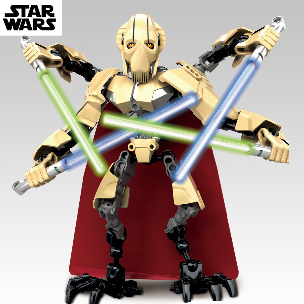 22cm star wars lightsaber robot general grievous clone war - Robot blanc star wars ...