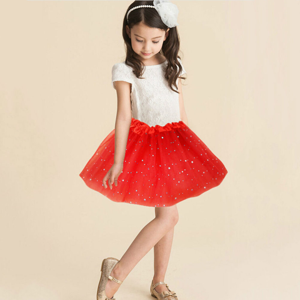 1 Stück Balletttanzabnutzung Kinder Petticoat Kleidung Sommer Baby Mädchen Bling Pailletten Tüll Flauschigen Pettiskirts Tutu Prinzessin Partei Röcke