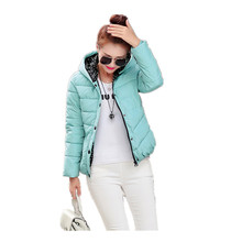 2016 New Womens Winter Jackets And Coats Slim Padded Outwear Chaquetas Mujer Camperas Mujer Abrigo Plaid