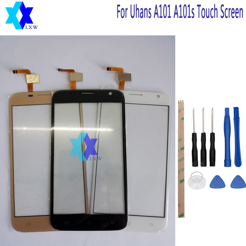 For Uhans A101 A101s Touch Screen Glass Original Guarantee Original New Glass Panel Touch Screen 5.0 inch Tools+Adhesive Stock