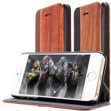 Для samsung galaxy note 3 s4 360 градусов wooden flip case для iphone 5 розовое дерево натуральное дерево + pu кожа + pc края стенд крышка