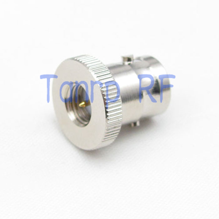 Wholesale 10pcs/lot  BNC female jack to SMA male plug straight discal RF coaxial connector adapter cable 1pc adapter n plug male nickel plating to sma female gold plating jack rf connector straight