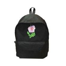 Модные женские туфли Обувь для девочек Цветок Вышивка рюкзак холст Повседневное большой Ёмкость рюкзак для путешествий школьная сумка LBY2017