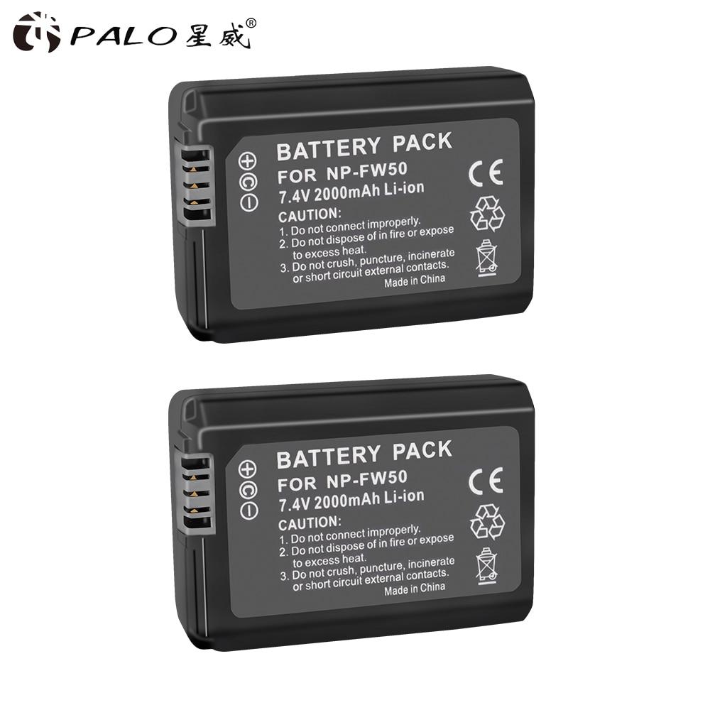 Batterien Palo 4 Pcs Np-fw50 Kamera Batterie Npfw50 Np Fw50 Für Sony A5000 A5100 A7r Nex5 5r 5n A6000 A7 Nex6 Nex7 Nex5r Nex5n