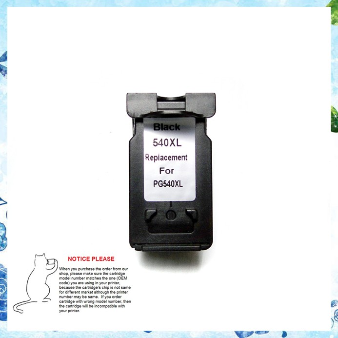 PG540 ink cartridge PG 540 PG 540XL for Canon MX372 MX432 MX512 MG2120 MG3120 MG3220 MG4120