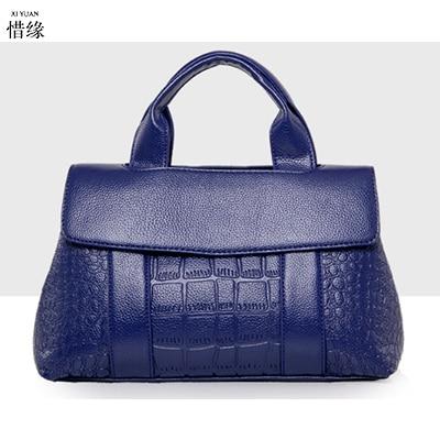 XIYUAN BRAND blue Leather Women Handbag Bolsas De Couro Fashion Famous Brands Shoulder Bag Black Bag Ladies Bolsas Femininas Sac сумка oem couro bolso femininos mg003