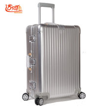 100% Full Aluminum Rolling Luggage Luggage Trolley Suitcase Trolley Antique Suitcase Kinder Koffer Rolling(China)