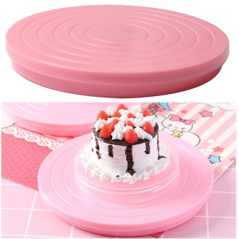 14 Cm Taart Plaat Revolving Decoratie Stand Draaitafel Ronde Roterende Cake Swivel Gebak Bakken Tool Delicious In Taste