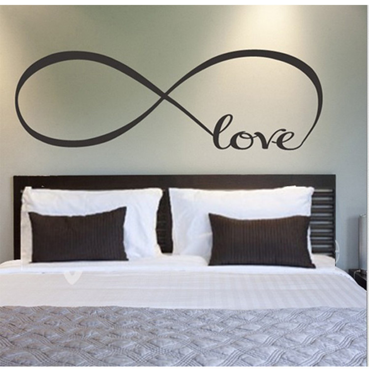 Lovespace Personalized Infinity Symbol Love Bedroom Wall Decal
