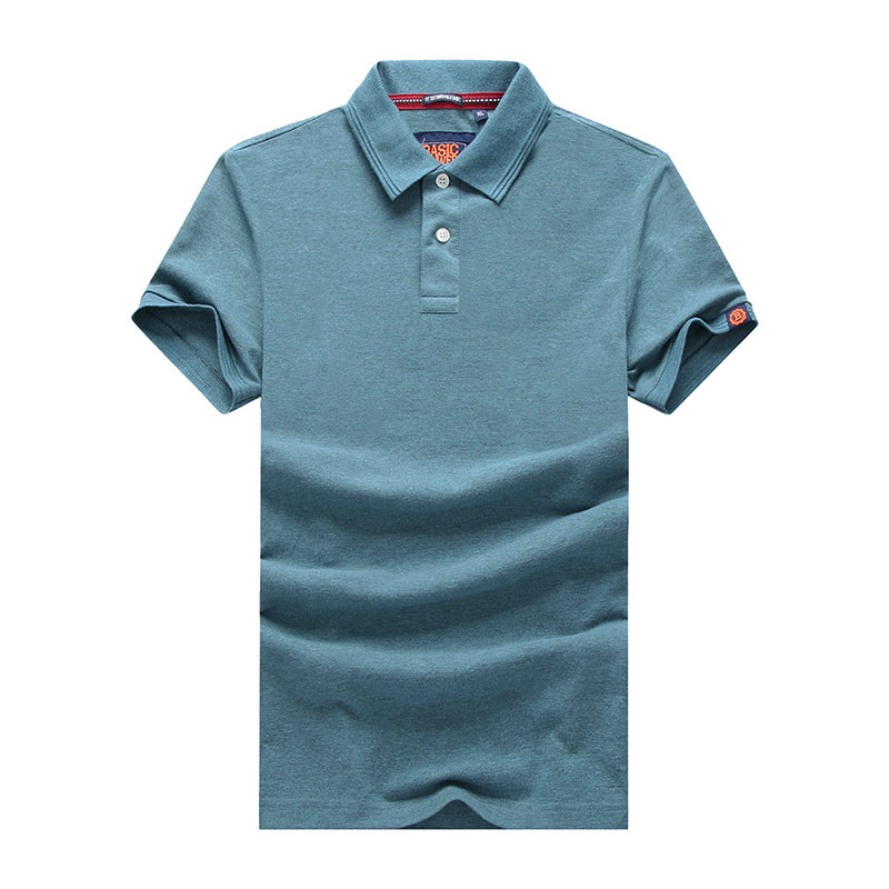 XXXL Summer Men's Solid Color Cotton Polo Shirts Brand Fitness Tops Tees Short Sleeve Shirts Casual Wine Red Men Polo Shirts (34)
