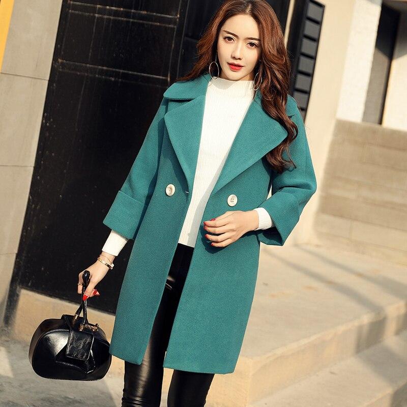 Black Bayan Manches blue Vente Moyen Bouton Manteau Directe Nouveau beige Boutonnage Solide Mode Coréenne Manteaux Plein Filles Slim Kaban Printemps Double 2018 qfHCFnXF